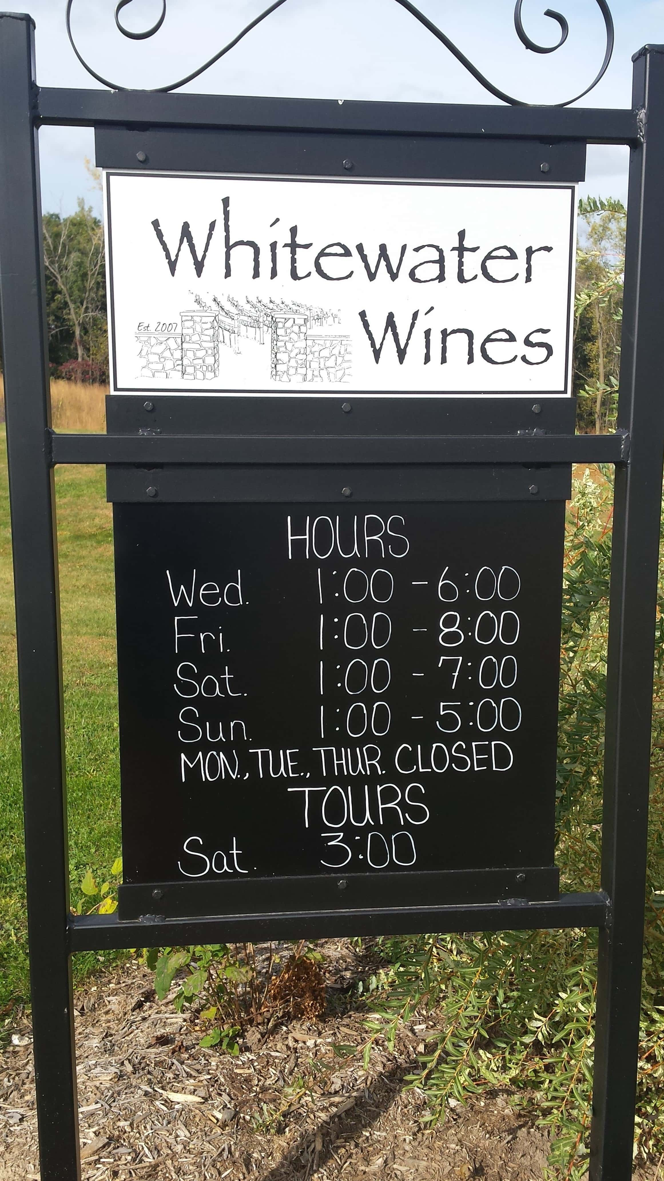 Hours at Whitewater Wines