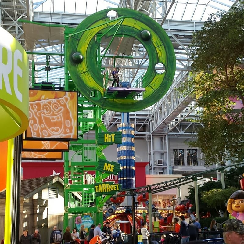 Zip Line at Nickelodeon Universe