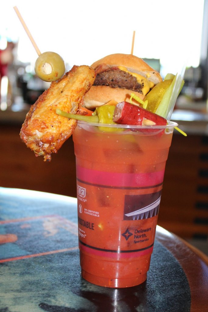 Chicken Wing Burger Bloodie Mary