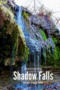 How to find the very secluded Shadow Falls, in St. Paul MN. Where to park and so much more.