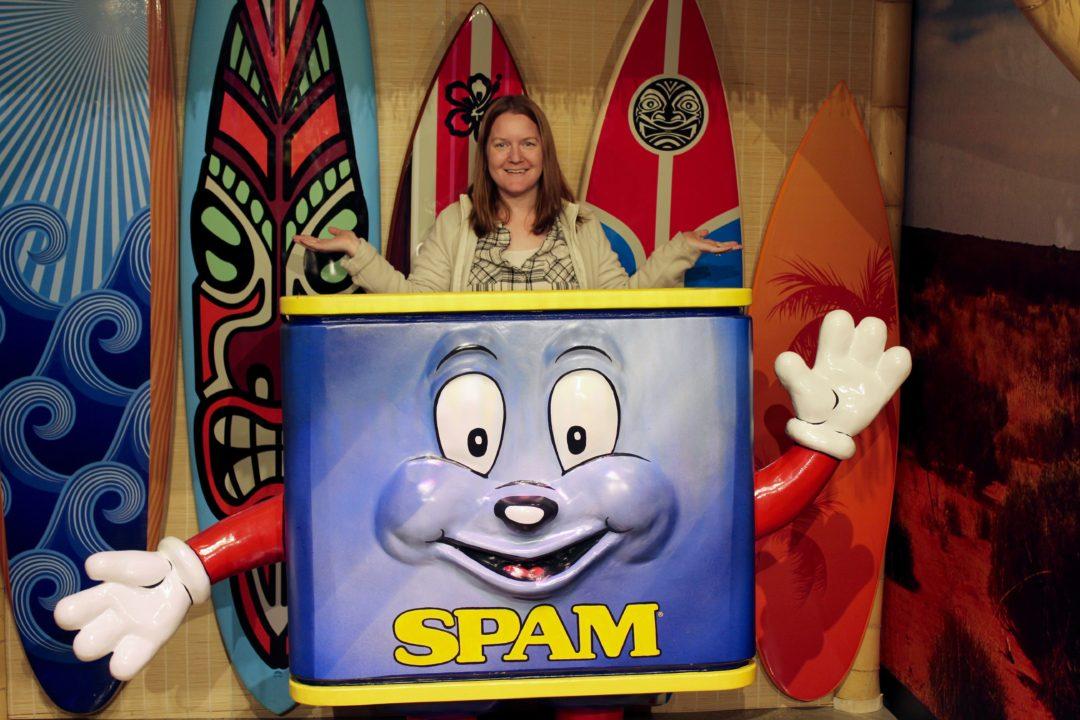 MR. Spammy at the SPAM Museum in Austin MN