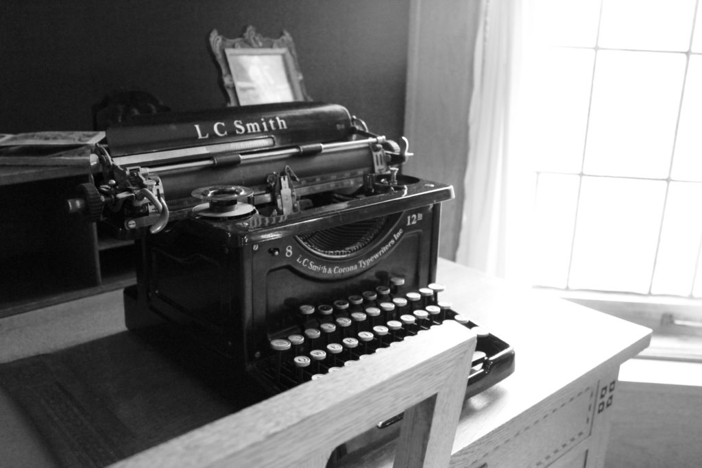 Typewriter at the Glensheen Mansion in Duluth