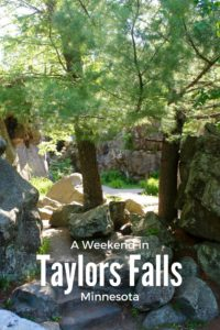 How to spend a weekend in Taylors Falls Minnesota. Filled with relaxation and family activities.