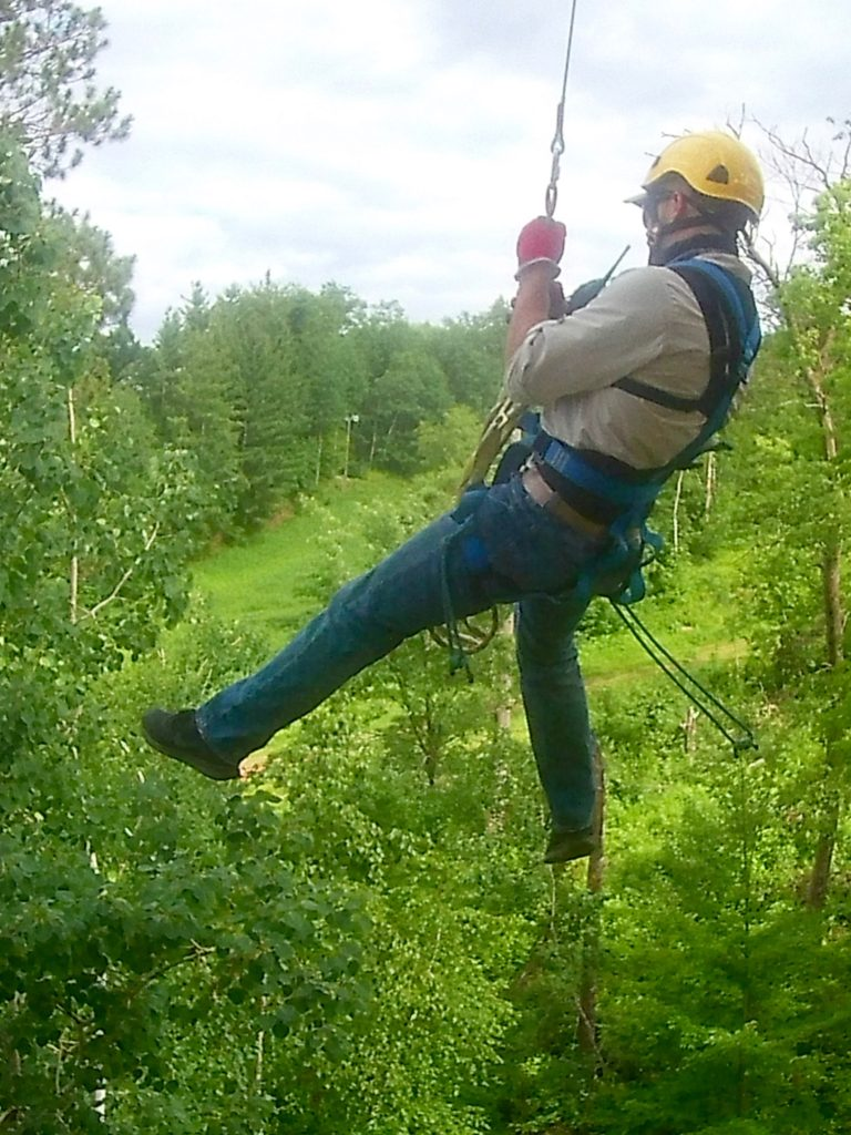 Free Fall at Minnesota Zipline Adventures