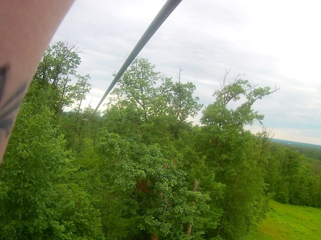 View from Zip Lining in Brainerd