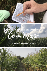 What a great way to spend a Fall Day in Hutchinson Minnesota! The Corn Maze at the Crow River Winery.