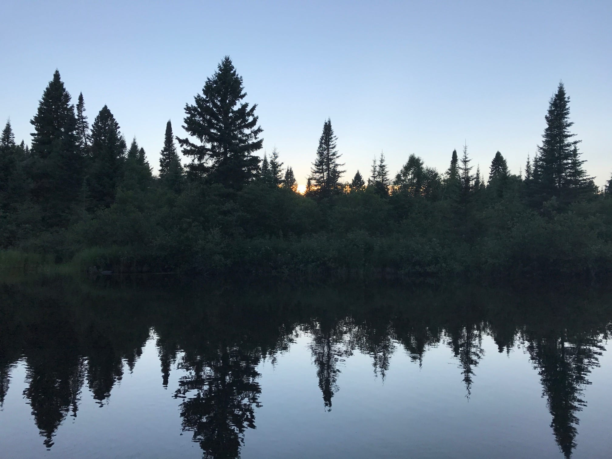 Nighttime on the Superior Hiking Trail
