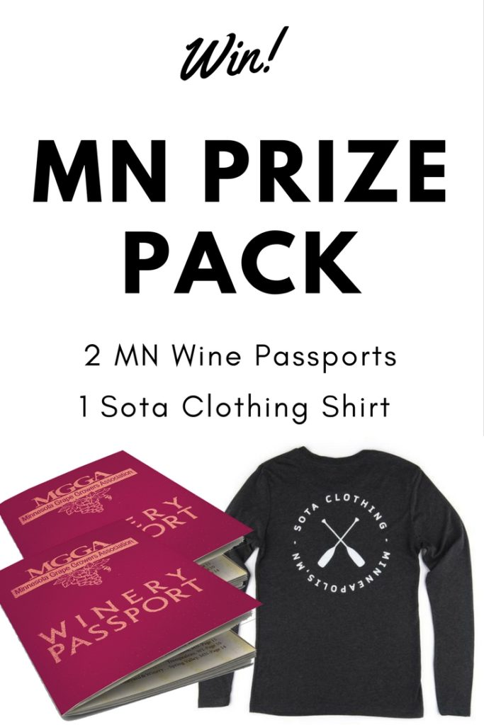 Enter To Win A MN Travel Prize Pack including 2 MN Wine Passports and 1 Soda Clothing