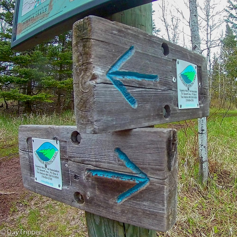 Lake Superior Hiking Trail Route Markers